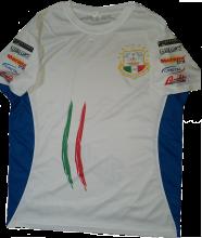T-Shirt Nazionale bianca con costine azzurre