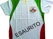 T-Shirt tricolore con logo